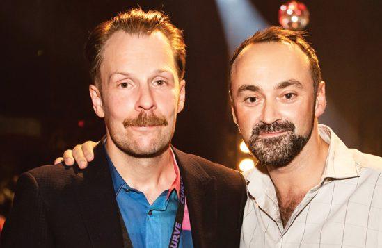 Curve artistic director Nikolai Foster and chief executive Chris Stafford