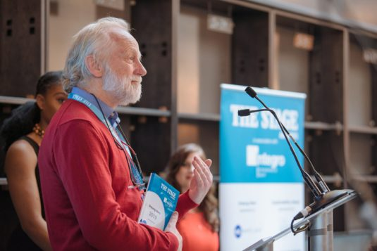 Pat Nelder, winner of The Stage Awards Unsung Hero