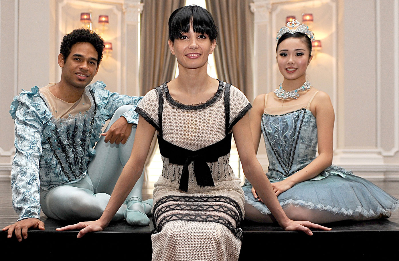 Artistic Director Tamara Rojo announces the English Naational Ballet new season. Tamara Rojo on stage at The Corinthia Hotel, London with Yonah Acosta Shiori Kase.