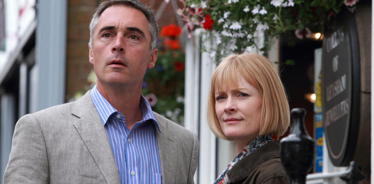 Claire Skinner as Claire Marshbrook and GREG WISE as Major Pete Bartham in Homefront on ITV
