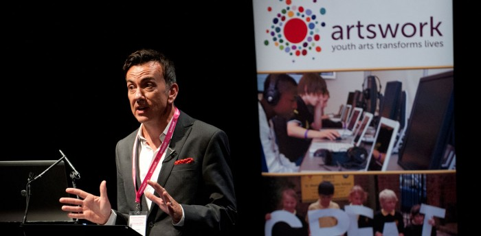 Paul Roseby, speaking at the south east Artsmark conference. Photo: Murray Freestone