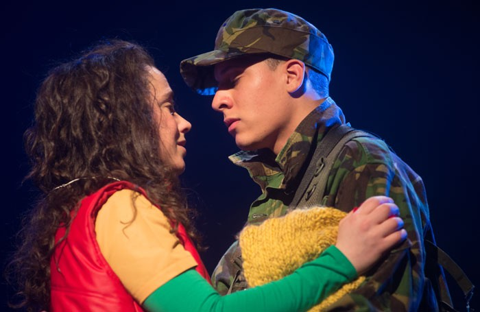 Amy Manson and Buchan Lennon in The Caucasian Chalk Circle at the Lyceum, Edinburgh. Photo: Alan McCredie Photography