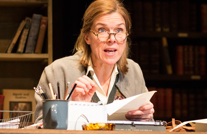 Janie Dee in 84 Charing Cross Road at Salisbury Playhouse. Photo: Helen Maybanks
