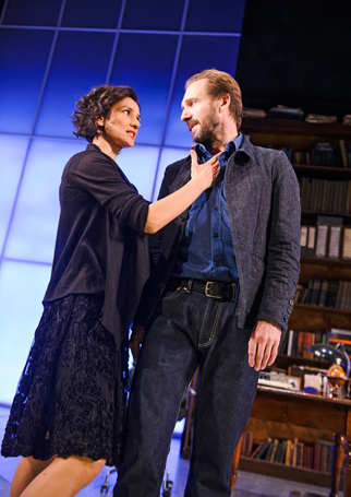 Varma with Ralph Fiennes in Man and Superman at the National Theatre in 2014. Photo: Tristram Kenton