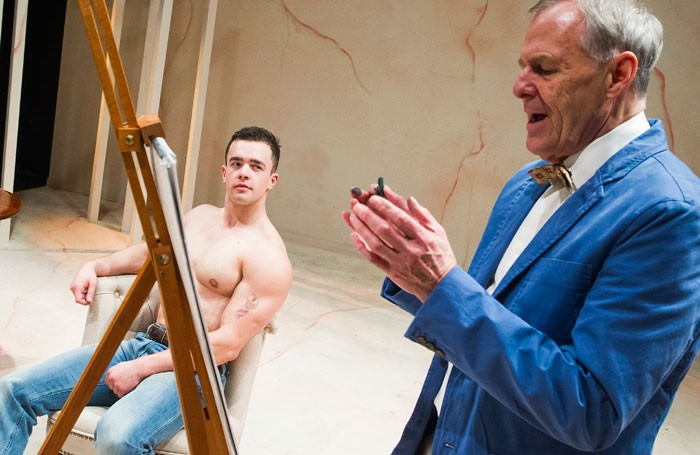 Will Austin and Ian Gelder in Gods and Monsters at Southwark Playhouse. Photo: Tristram Kenton