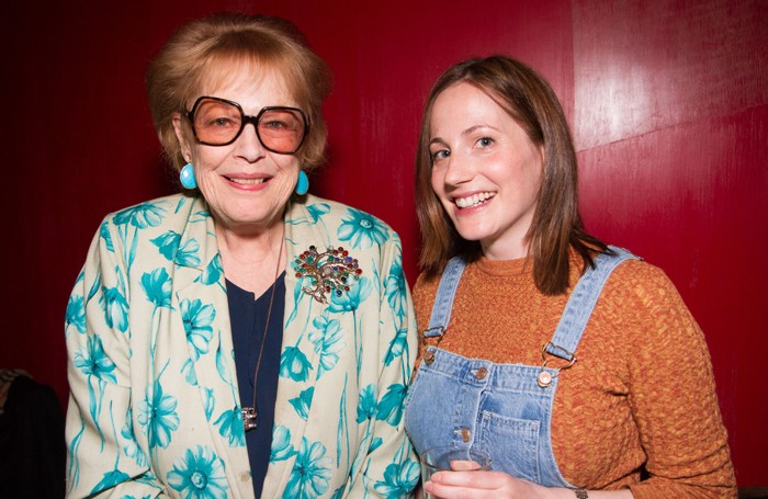 Antonia Fraser with Pinter Commission winner Molly Davies. Photo: Helen Murray