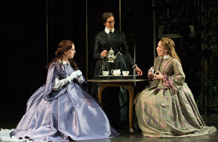 Terri McMahon, Erica Sullivan and Sara Bruner in Fingersmith. Photo: Jenny Graham