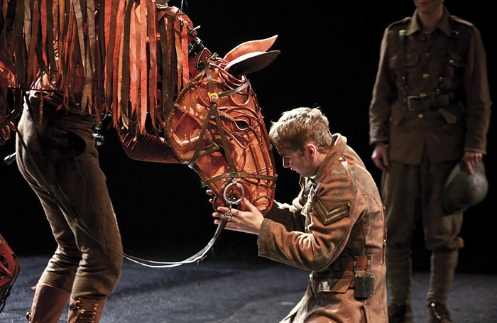 Sion Daniel Young in the National Theatre's War Horse. Photo: Simon Annand