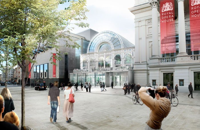 How the refurbished ROH Bow St entrance will look