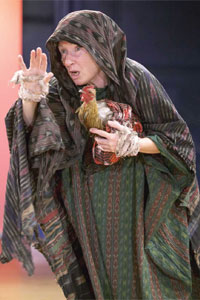 Eileen O'Brien in Rafts and Dreams, at the Royal Exchange in 2003. Photo: Jonathan Keenan