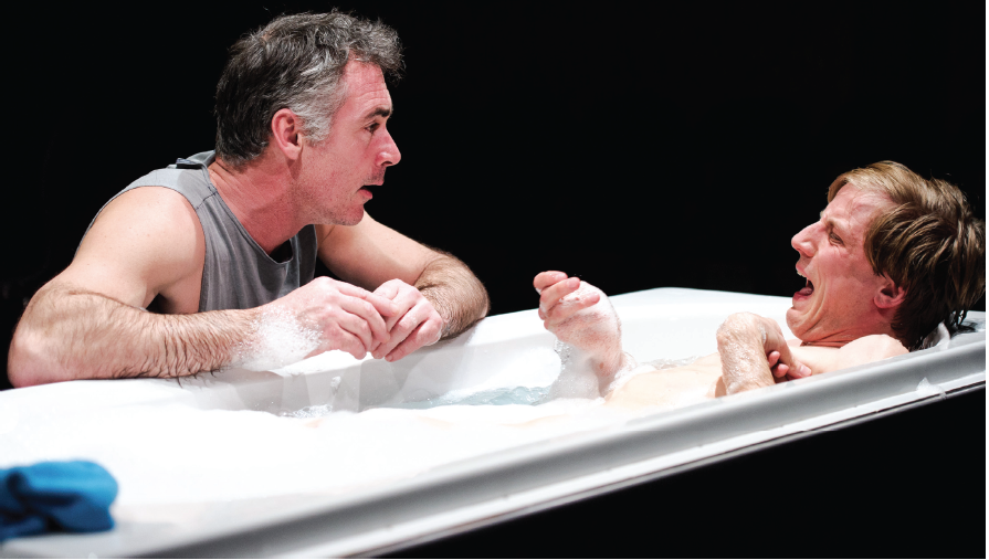 Greg Wise and Oliver Gomm in Kill Me Now, currently playing until March 29. Photo: Alex Brenner