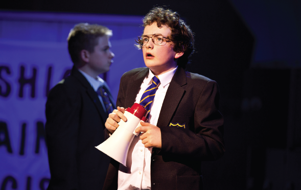 Lewis Andrews as Adrian Mole. Photo: Pamela Raith