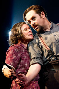 Staunton with Michael Ball in Sweeney Todd in 2011. Photo: Tristram Kenton
