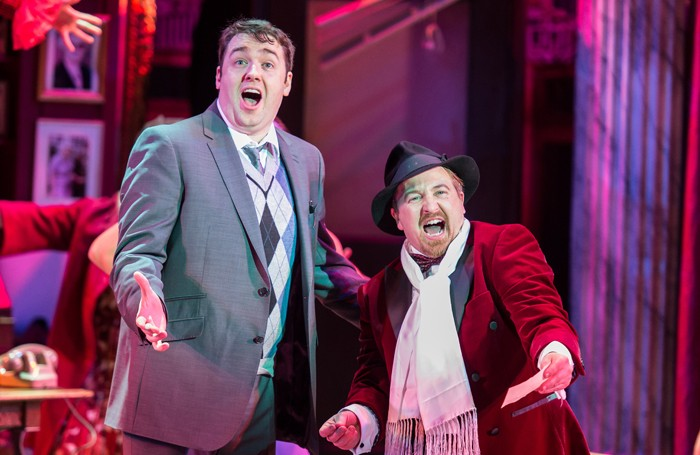 Jason Manford and Cory English in The Producers. Photo: Manuel Harlan