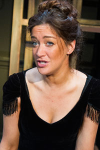 Julie Atherton in Therese Raquin at the Finborough. Photo: Tristram Kenton
