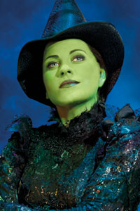 Louise Dearman in Wicked. Photo: Matthew Crockett