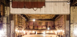 Alexandra Palace, view from the theatre stage