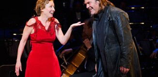 Emma Thompson and Bryn Terfel in Sweeney Todd at the London Coliseum. Photo: Tristram Kenton