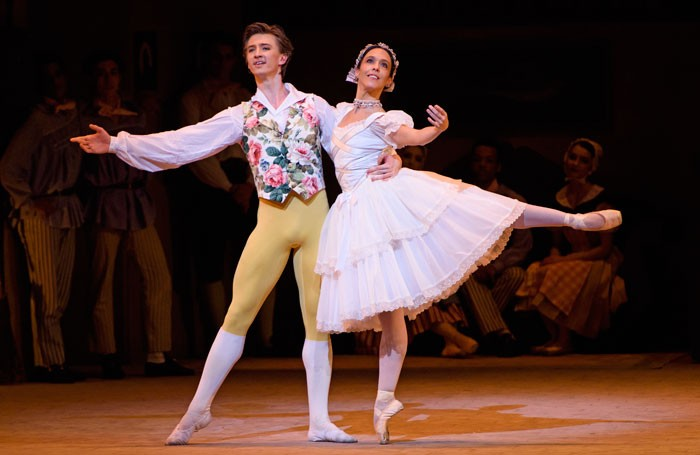 Vadim Muntagirov and Laura Morera in La Fille Mal Gardee at the Royal Opera House, London. Photo: Tristram Kenton