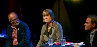 Harriet Harman (centre) at the Creative Industries Federation's cultural debate. Photo: Ian Watts