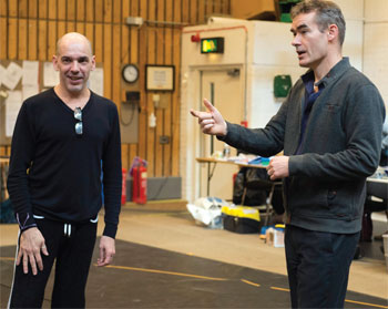 De Frutos with new National Theatre artistic director Rufus Norris in rehearsals for the NT's Everyman, on which they have collaborated as choreographer and director. photo Richard Hubert Smith