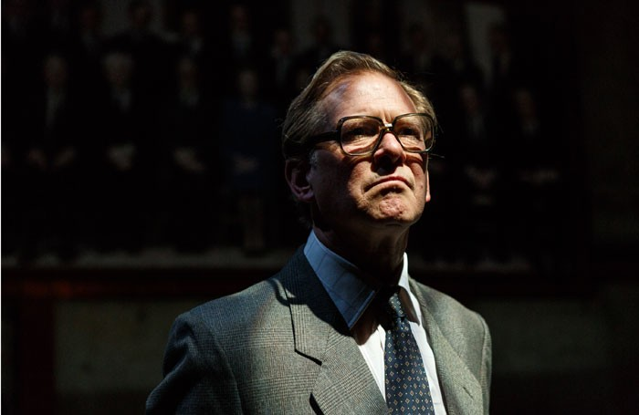 James Wilby as Geoffrey Howe in Jonathan Maitland's Dead Sheep at Park Theatre. Photo: Darren Bell