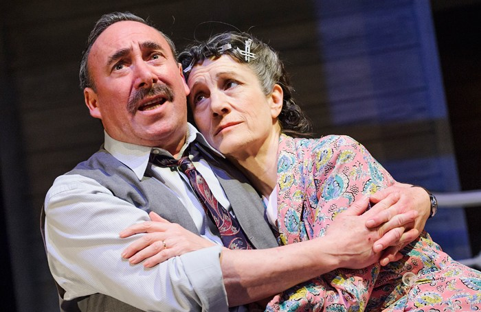 Antony Sher and Harriet Walter in Death of a Salesman. Photo: Tristram Kenton