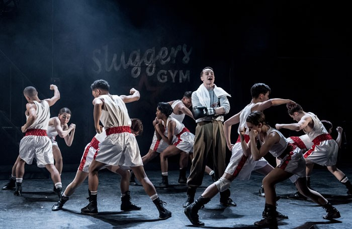 Ensemble shot of the cast of Bugsy Malone, Hammersmith Lyric, London. Photo: Manuel Harlan