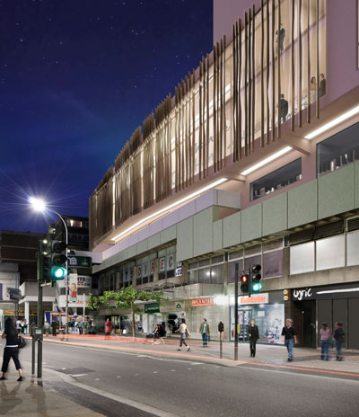 King street elevation of the Lyric Hammersmith extension. Photo: Rick Mather Architects
