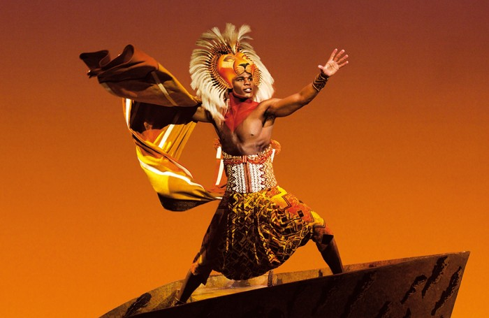 Andile Gumbi in The Lion King at the Lyceum Theatre, London. Photo: Johan Persson