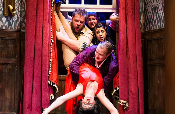 The Play That Goes Wrong was started by LAMDA graduates. Photo: Tristram Kenton