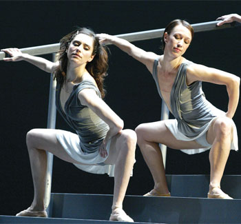 Scene from Rambert Dance Company's Elsa Canasta, choreographed by De Frutos, at Sadler's Wells in 2003. Photo Tristram Kenton