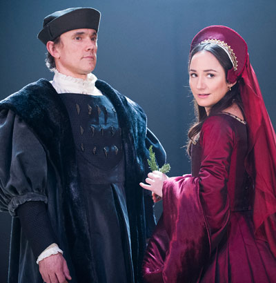 Ben Miles and Lydia Leonard in Wolf Hall. Photo: Tristram Kenton