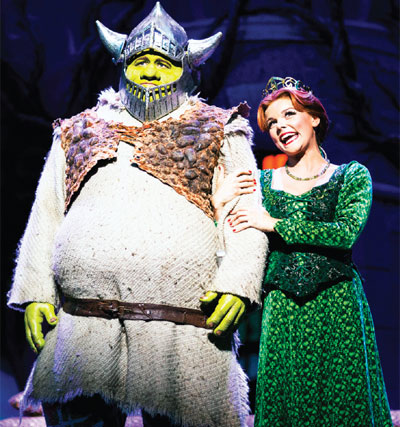 A scene from Shrek the Musical, for which Playful was general manager. Photo: Helen Maybanks
