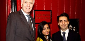 Terence Brown, Sharan Kaur, managing director of Sahara Care, and Kerry Michael