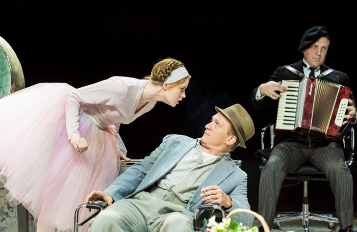 Ellie Bamber and Jamie Parker in High Society at the Old Vic. Photo: Johan Persson