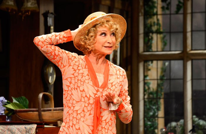 Felicity Kendal in Hay Fever at Theatre Royal, Haymarket, London. Photo: Nobby Clark