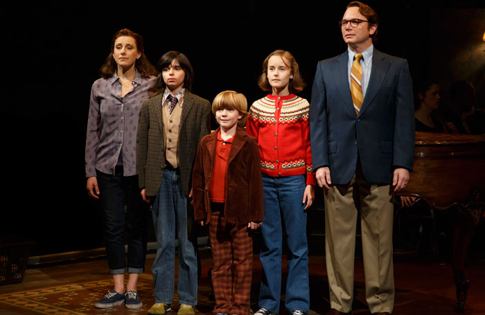 The cast of Fun Home, written by Lisa Kron and Jeanine Tesori. Photo: Joan Marcus