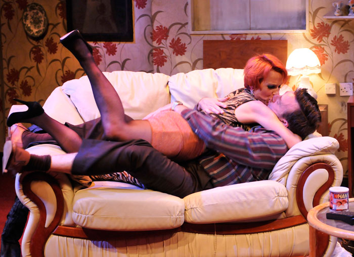 Sue Devaney and Matt Healy in The Rise and Fall of Little Voice in 2012. Photo: Ian Tilton