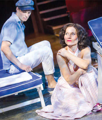 Kate Fleetwood and Rupert Young in High Society, directed by Maria Friedman, at the Old Vic