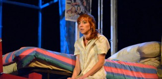 Nancy Sullivan as LV in The Rise and Fall of Little Voice. Photo: Keith Pattison