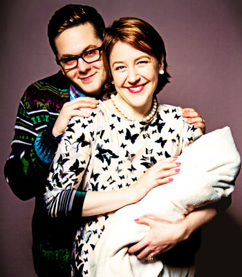 Sean Michael Verey and Gemma Whelan in Radiant Vermin at Soho Theatre, directed by father of two David Mercatali