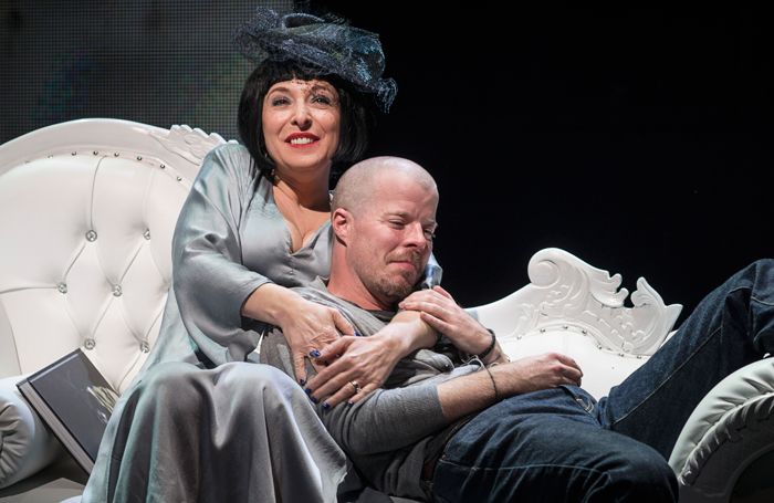 Tracy Ann Oberman and Stephen Wight in McQueen. Photo: Specular