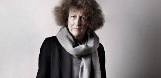 Portrait of Timberlake Wertenbaker at the Playwrights in focus exhibition. Photo: Bronwen Sharp