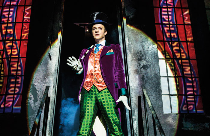 Jonathan Slinger in Charlie and the Chocolate Factory. Photo: Matt Crockett