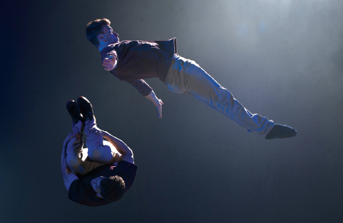 Barely Methodical Troupe's Bromance, which won the first Circus Maximus competition, will run at the Udderbelly Festival later this month. Photo Chris Nash
