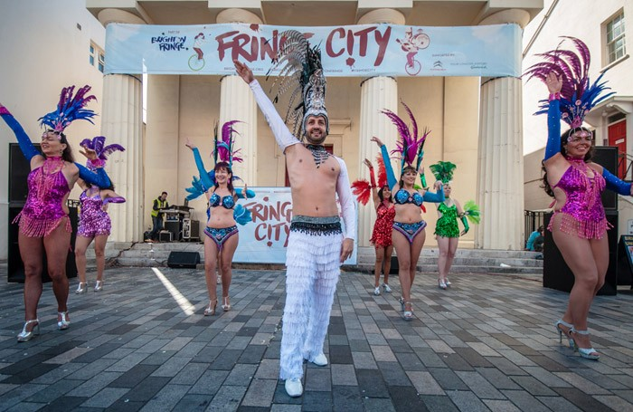 Beleza Brighton performing at the festival's Fringe City. Photo: Paul Kondritz