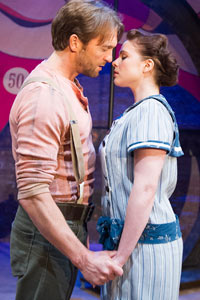 Gemma Sutton and Tim Rogers in Carousel at the Arcola Theatre. Photo: Tristram Kenton