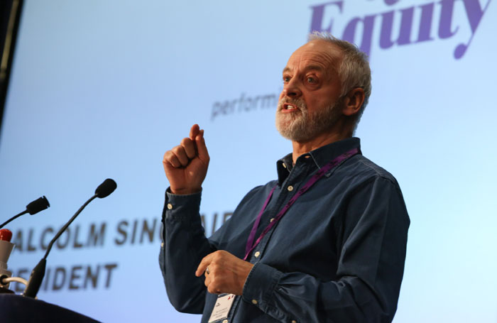 Equity president Malcolm Sinclair has called on councils to increase their arts spending despite projected budget cuts. Photo: Phil Adams