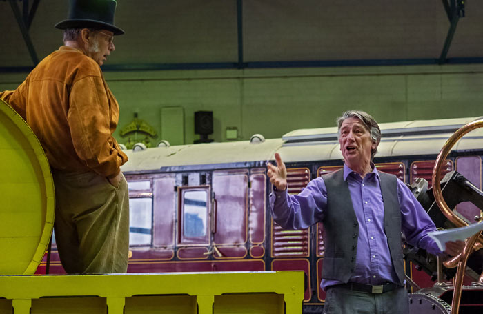 George Costigan in rehearsals for In Fog and Falling Snow with Ian Giles. Photo: John R Saunders
